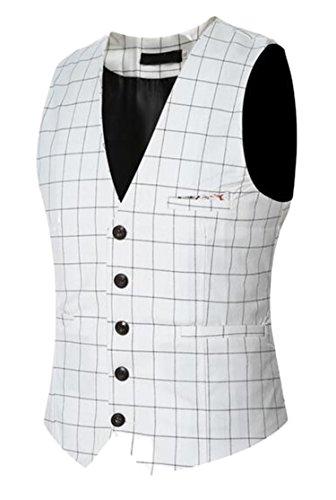 DD.UP Men's Winter Casual Slim Fit lace Button Wedding Suit Dress Vest Waistcoat Blazer