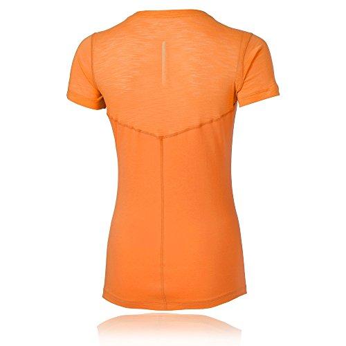Asics Mujer oberbekleidung fuzzex V de Neck corta para Top Naranja - naranja