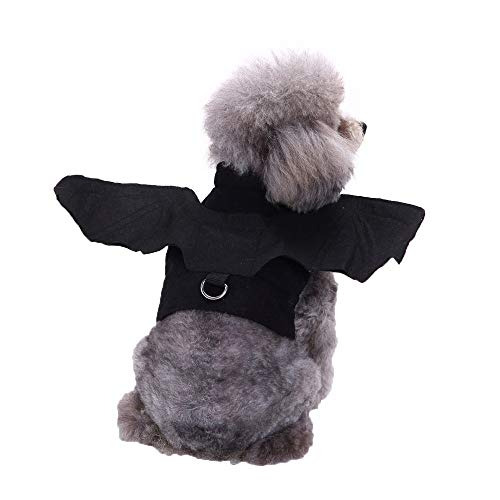 Geetobby Pet Halloween Bat Vampire Clothes Dog Fancy Dress Costume Outfit Wings -