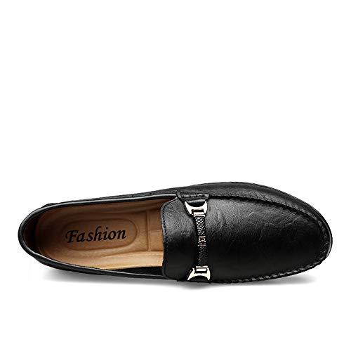 Barco para Zapatos Zapatos Zapatos de Penny en Negro Mocasines cómodos Hombres de los Hombre holgazán Informal 4qTwIHz4
