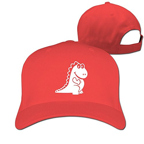 Cute Dragon Unisex Adjustable Football Hat & Cap Red