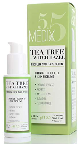 Medix 5.5 Medix 5.5 Tea Tree Oil for Face with Witch Hazel and Vitamin E. Face oil for dry skin, redness, blemishes, clogged pores. Large bottle with pump 2 Fl Oz price tips cheap