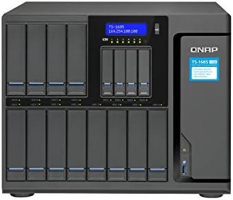 QNAP TS-1685 Ethernet Escritorio Negro NAS - Unidad Raid (Unidad de Disco Duro, SSD, M.2,Serial ATA III, 2.5,3.5