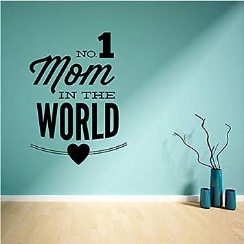 Lovemq No.1 Mamá En El Mundo Etiqueta De La Pared De Vinilo Día De La