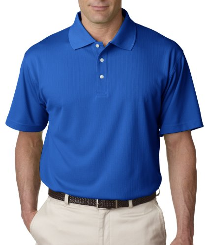UltraClub Men's Cool & Dry Stain-Release Performance Polo Shirt, ROYAL, X-Large
