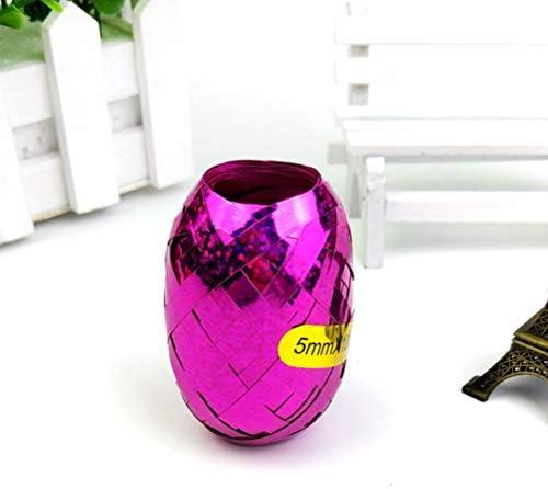 YeahiBaby バレンタインギフト包装用光沢のあるカーリングリボンロールメタリックストリングクラフトリボン(アソートカラー)