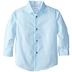 Calvin Klein Little Boys' Long-Sleeve Stripe Shirt