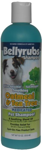Bellyrubs Organic 12-Ounce Pet Shampoo, Oakmeal and Tea Tree
