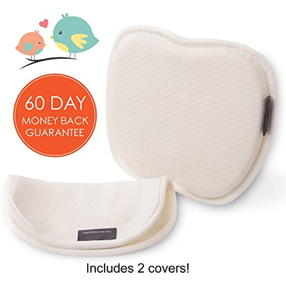 Pillows Flat Head Baby With 2 White Washable Cotton Covers
