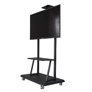 XUE Floor TV Stand Mount, Universal TV Carrito Alambre gestión para 32-75 Pulgadas 360 ° Grado Giratorio con Freno LED LCD Plasma Flat Paneles Dormitorio ...