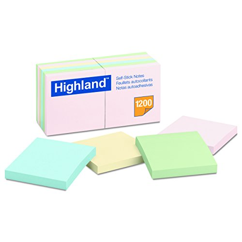 Highland 6549A Self Stick Assorted 100 Sheet
