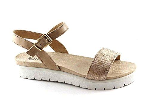 IGI & CO 78092 zapatos de color beige sandalias de correa de piel de castor Beige