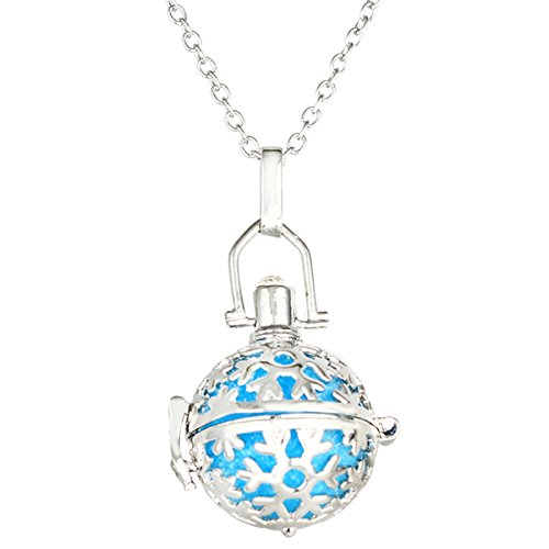 Pendant New 0.25 (HOUSWEETY Aromatherapy Essential Oil Diffuser Necklace - Magical Box Locket Pendant,6 Refill Pads)