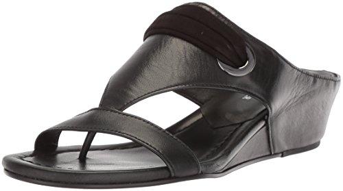 Donald J Pliner Women's Dionne Wedge Sandal, Black, 7.5 Medium US (Donald J Pliner Black Sandals)