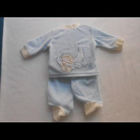 Chopi - Pijama bebé azúl, talla 0 meses : Amazon.es: Ropa