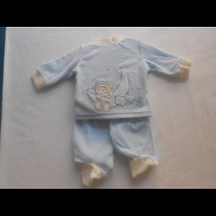 Chopi - Pijama bebé azúl, talla 0 meses