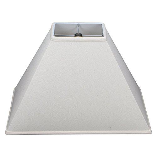 Homespun Linen - Rectangle Lamp Shade 4x6 Top, 10x18 Bottom, 12