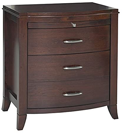 Modus Furniture BR1581P Brighton Two Drawer Nightstand, Charging Station,  Cinnamon