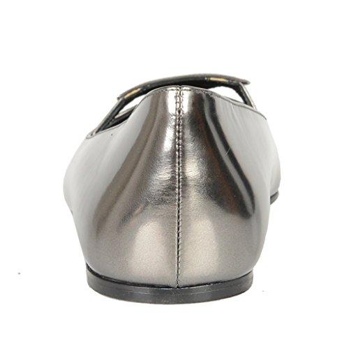 Prada Gray Patent Leather Ballet Flats Shoes Silver cheap sneakernews view for sale best wholesale sale online DPE3QJbn4