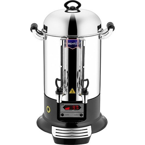 120 CUP- EXCLUSIVE DIGITAL TEMP SCREEN - Double Compartment Commercial industrial size Cafe Restaurant Catering Hot Water Tea Coffee Maker Brewer Brewing Machine Urn Percolator Dispenser 220V Remta Makina