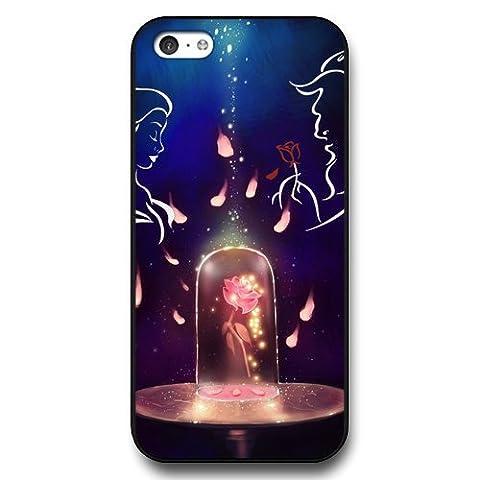 Disney Cartoon Beauty and The Beast, Hard Plastic Case for iPhone 5c - Disney Princess iPhone 5c Case Cover - (Disney Cell Phone Cases Iphone 5c)