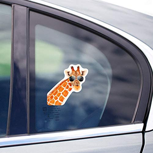 Car Truck Van SUV Window Wall Cup Laptop More Shiz Giraffe Sunglasses Vinyl Decal Sticker 5 Inch Decal MKS1444