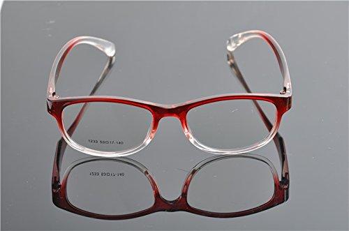 Cadres de Ding optique Lunettes objectif plein cadre transparent rouge transparent