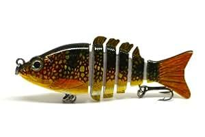 """3.2"""" Multi Jointed Fishing Life-like Lure Bait Minnow Swimbait VIB Sunfish Bass NEW (H)"""