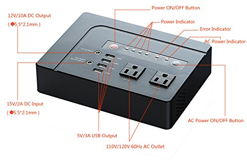 Portable-External-Battery-Pack-42000mAh-200Watts-Laptop-Power-Bank-Rechargeable-Battery-Battery-Charger-Inverter-with-110V-AC-Outlet-and-5V-3A-USB-for-All-Notebook-Laptop-Tablet-Smartphone-Camera