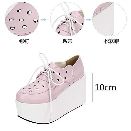 PINGXIANNV Schuhe Studded Schuhe PINGXIANNV Plateauschuhe Frauen Gothic Punk Schuhe - 652d40