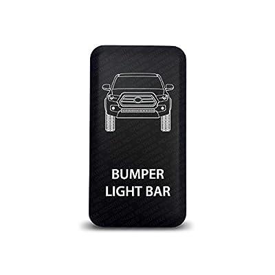 CH4X4 Push Switch for Toyota Tacoma 3rd Gen - Bumper Light Bar Symbol - Blue LED: Automotive