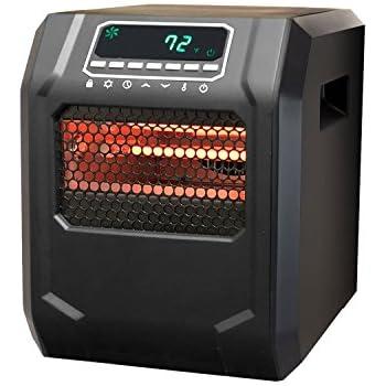 lifesmart zcht1056us 4 element infrared bulb heater black. Black Bedroom Furniture Sets. Home Design Ideas
