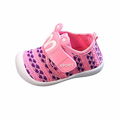 Amanod 2018 hot sale Toddler Children Kids Baby Cartoon Star Rabbit Ears Squeaky Single Shoes Sneaker - Ftd Pink Lily
