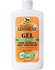 Absorbine Veterinary Liniment Topical Analgesic Sore Muscle and Arthritis Pain Relief Warming Liniment Rub, 12 Ounce