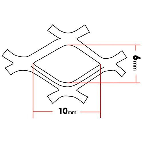 TUNING GURU 1187575 Griglia Alluminio Cromato 60 x 20 cm