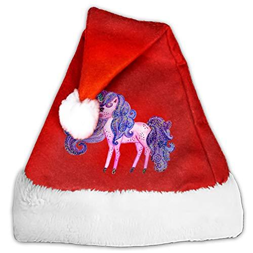 Purple Unicorn Santa Hat-Christmas Costume Classic Hat for Adult ()