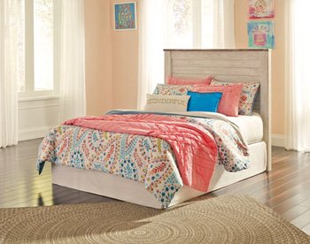 Signature Design by Ashley B267-87 Willowton Headboards, White Wash (Furniture Bed Sets Bunk Ashley)