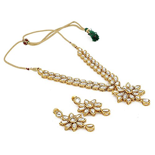 Shining Diva Fashion Jewelry Gold Plated Kundan Fancy Necklace Traditional Jewellery Set with Earrings for Women & Girls…