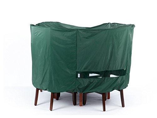 Covermates Round Bistro Table Chair Set Cover 54DIAMETER x 25H Classic Collection 2 YR Warranty Year Around Protection – Green