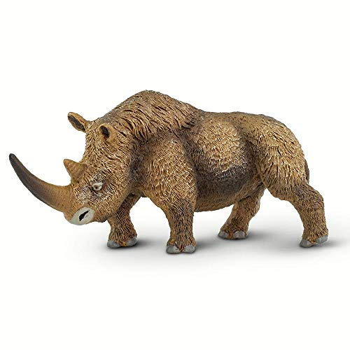 Wooly Rhino - Safari Ltd. Prehistoric World - Woolly Rhinoceros - Quality Construction from Phthalate, Lead and BPA Free Materials - for Ages 3 and Up