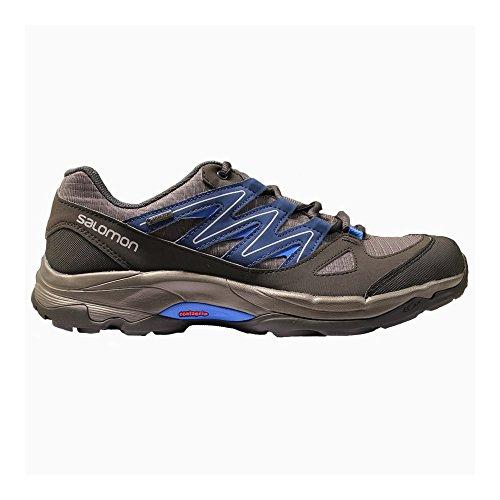 Salomon - Zapatillas para correr en montaña para hombre, hombre, dark grey - blue, 10,5 UK