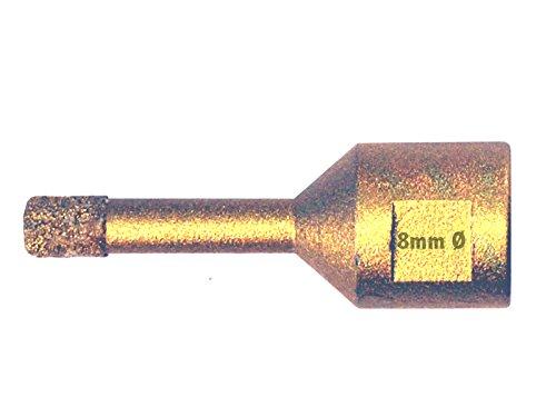 Vakuum verarbeitet Hohlbohrkrone. Fliesenbohrer Diamant Bohrkrone 8mm M14 Gewinde f/ür Winkelschleifer Fliesenbohrkrone