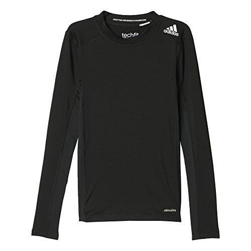 adidas Jungen T-shirt YB TF LS TEE, Schwarz, 164, 4055344275856