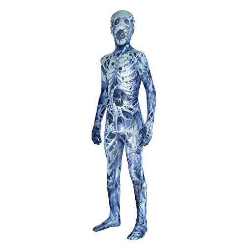 [Android Kids Monster Morphsuit Costume - size Large 4'1-4'6 (123cm-137cm)] (Halloween Costumes For 4 People)