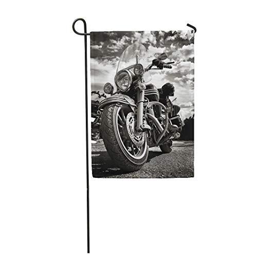 Semtomn Garden Flag Freedom Motorbike Under Sky Vintage Effect Added for Create 28