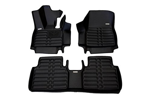 TuxMat Custom Car Floor Mats for BMW i3 2014-2020 Models - Laser Measured, Largest Coverage, Waterproof, All Weather. The Best BMW i3 Accessory. (Full Set - Black)