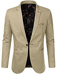 """<span class=""""a-offscreen"""">[Sponsored]</span>Mens Slim Fit Casual Buttoned Blazer Suit Jacket"""