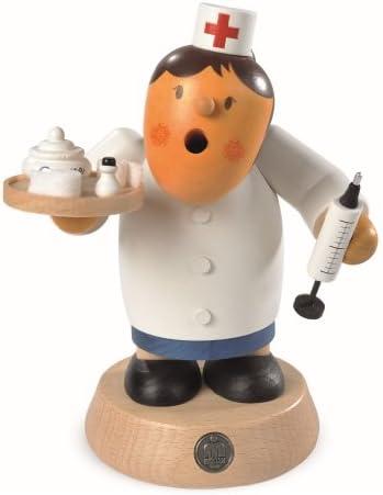 煙出し人形 小人ミュラー 看護婦 高さ16 cm エルツ山地ザイフェン民芸品 オリジナル