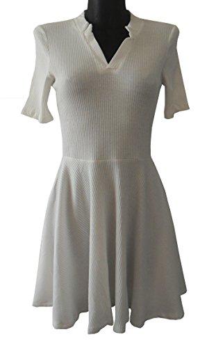 Robe-Tunique manches courtes - Blanche - Taille unique