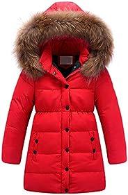 Kedera Big Girls' Winter Parka Down Coat Puffer Jacket Padded Overcoat with Fur